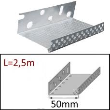 Профиль цокольный АЛ 50 мм/2,5 м